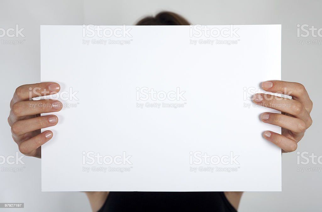 placard royalty-free stock photo