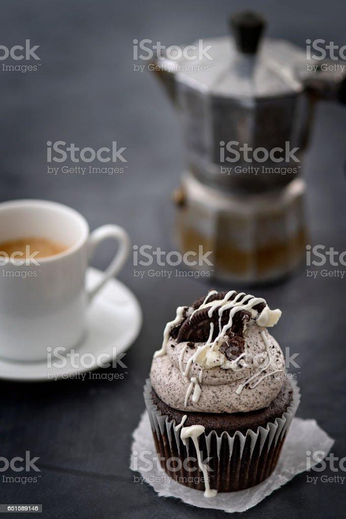 Cupcake and Espresso stock photo