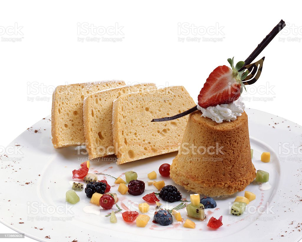 Cupcake and slices of cake royalty-free stock photo