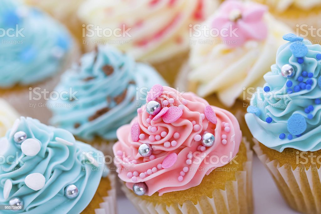 Cupcake assortment royalty-free stock photo