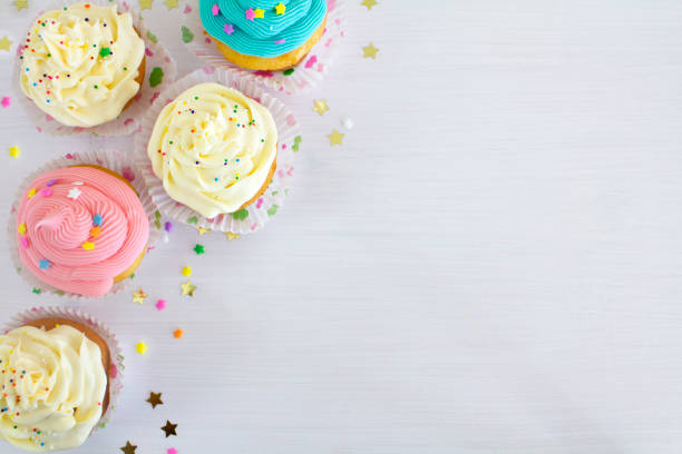 Cupcake background stock photo