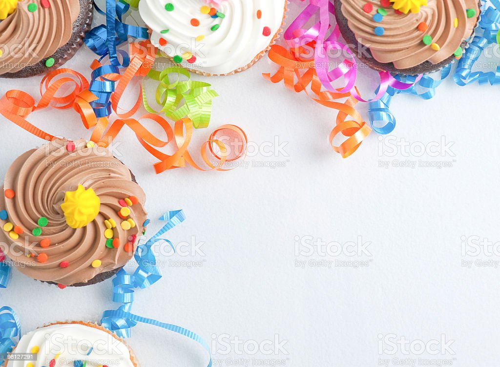 cupcake border royalty-free stock photo