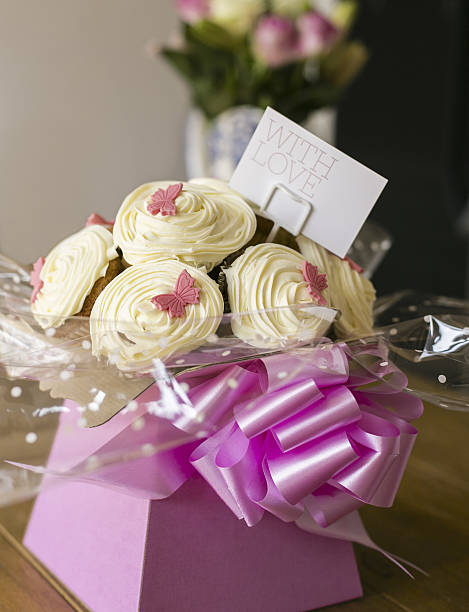 Cupcake Bouquet stock photo