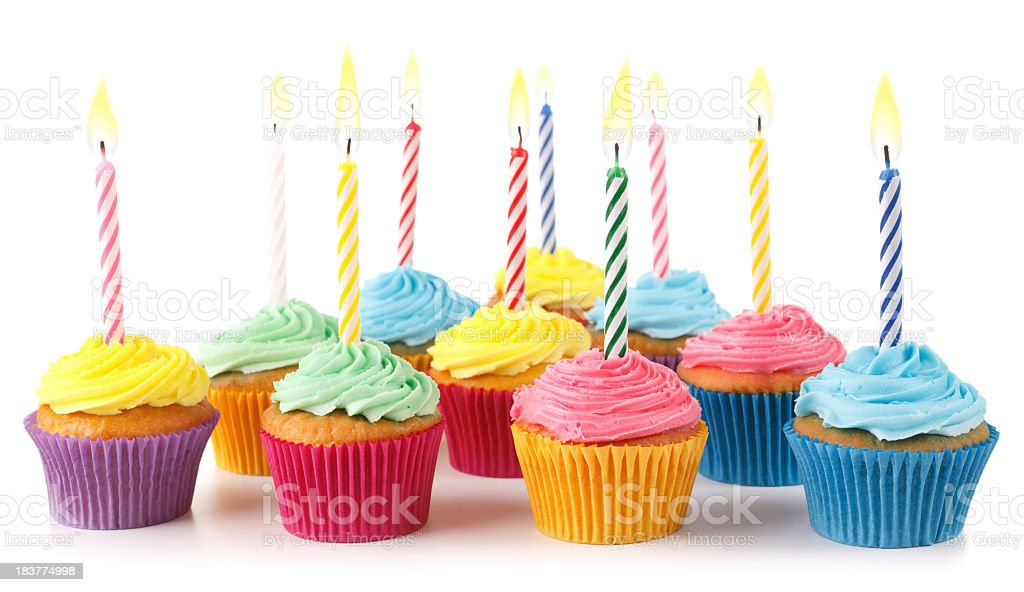 Cupcake Cluster Isolated royalty-free stock photo