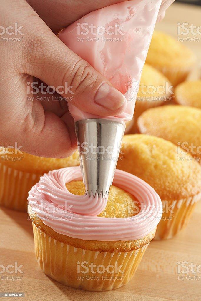 Cupcake Decorating royalty-free stock photo