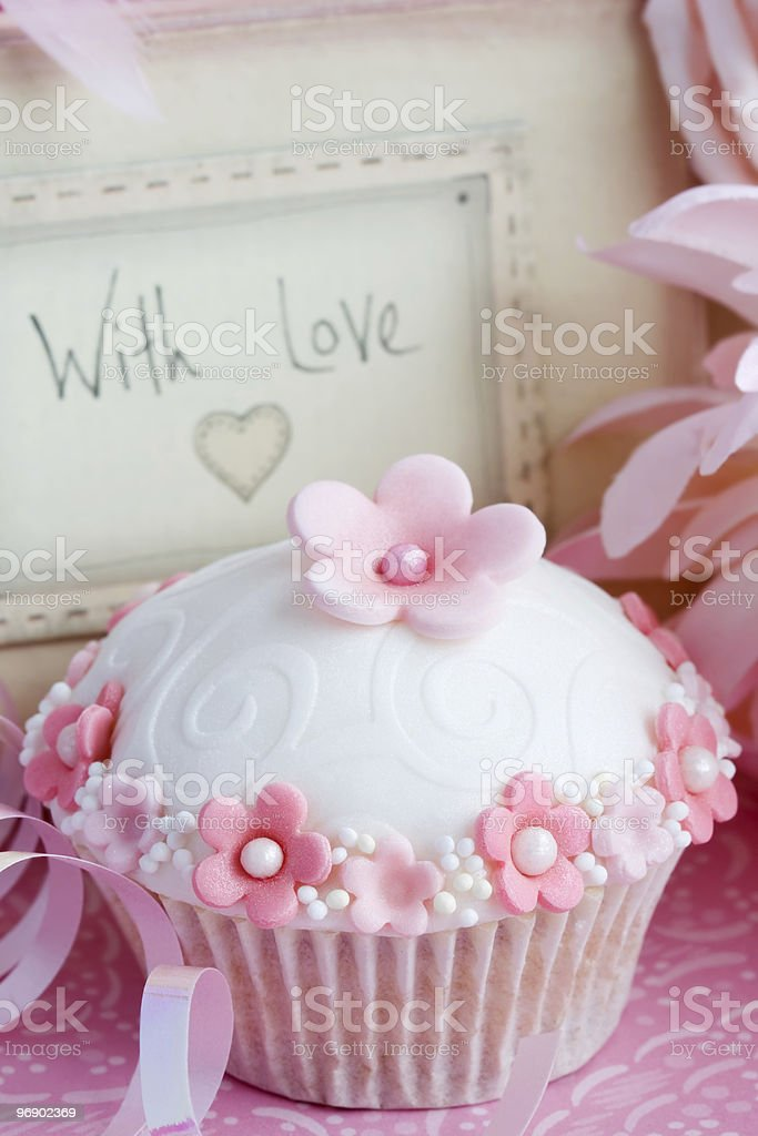 Cupcake gift royalty-free stock photo
