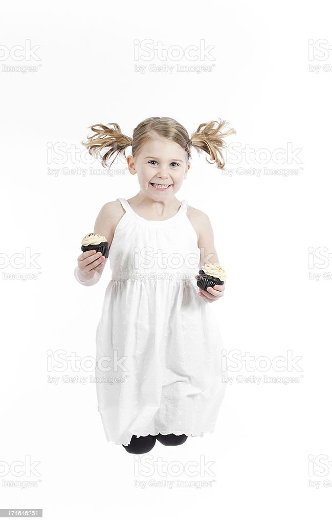 Cupcake Girl Series royalty-free stock photo