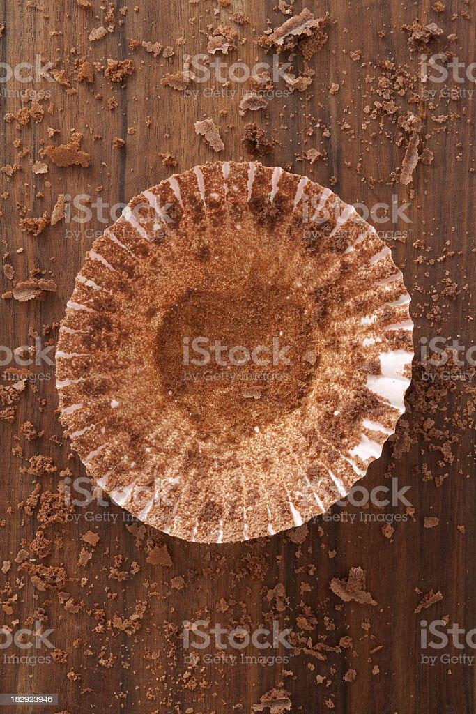Cupcake holder stock photo