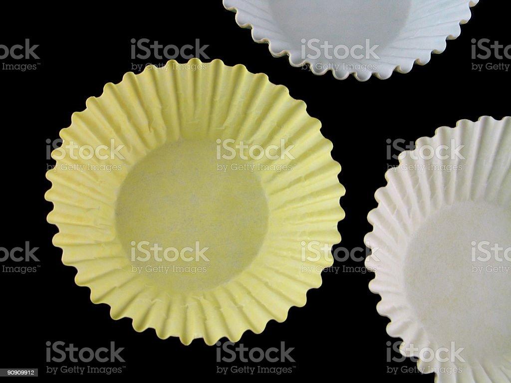 Cupcake holders stock photo