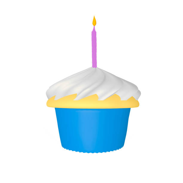 Cupcake illustration stock photo