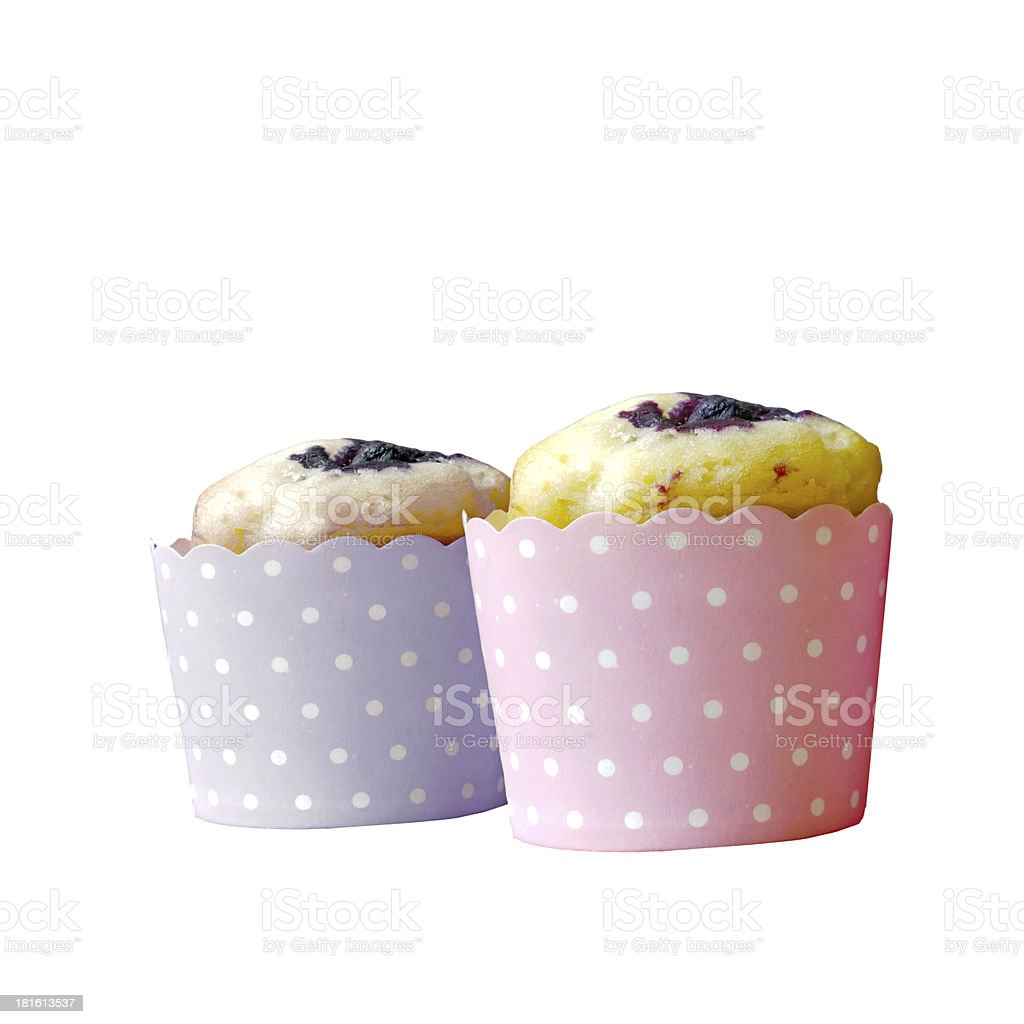 Cupcake isolated on white background royalty-free stock photo