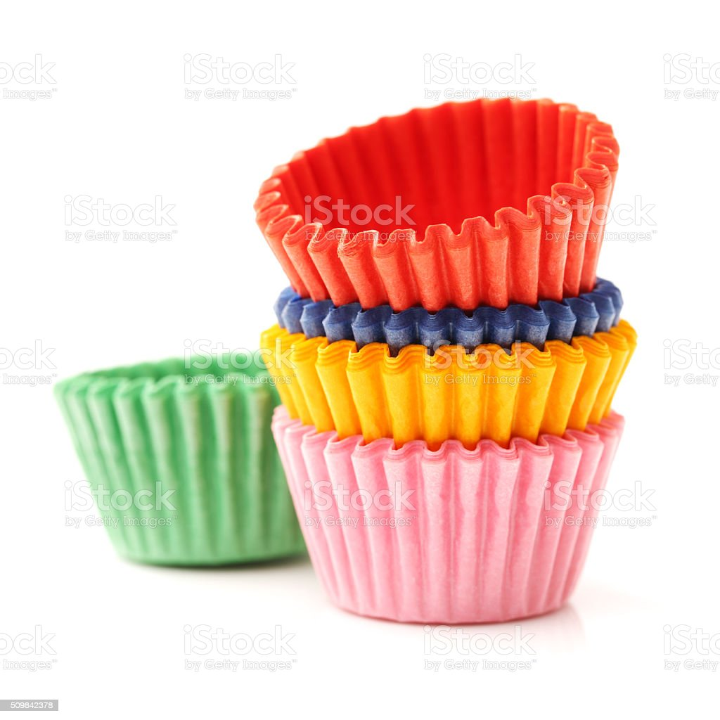 cupcake liners stock photo