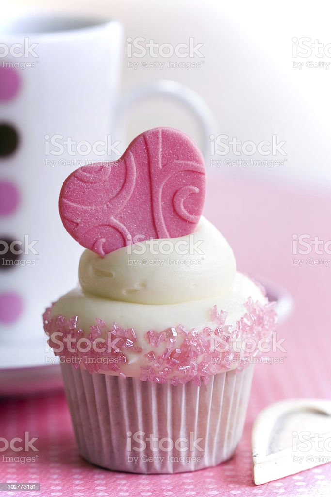 Cupcake love royalty-free stock photo