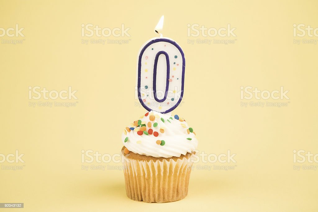 Cupcake Number Series (0) stock photo