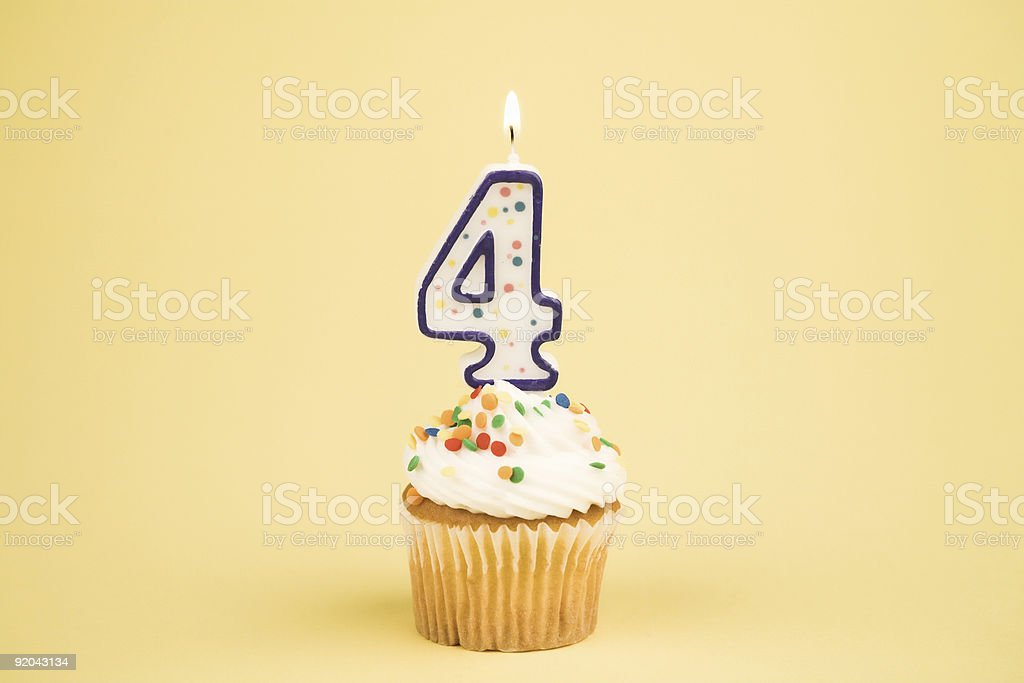 Cupcake Number Series (4) royalty-free stock photo