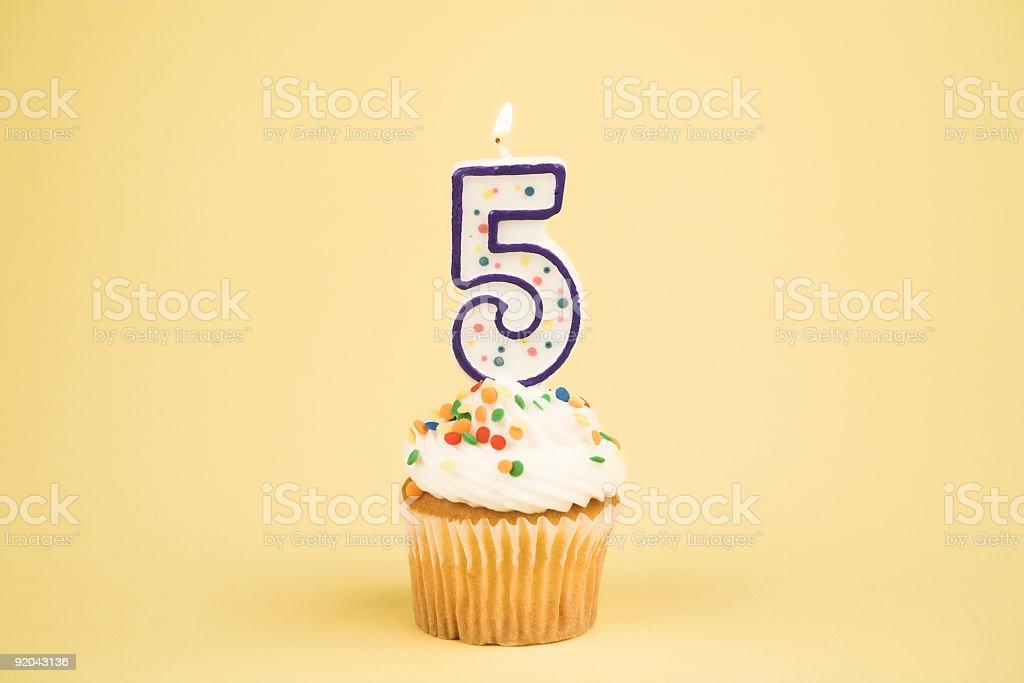 Cupcake Number Series (5) stock photo