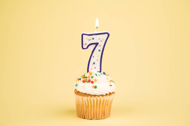 Cupcake Number Series (7)  number 7 stock pictures, royalty-free photos & images