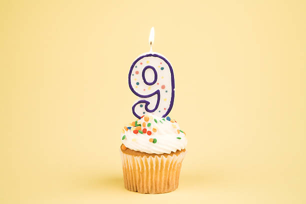Cupcake Number Series (9)  8 9 years stock pictures, royalty-free photos & images
