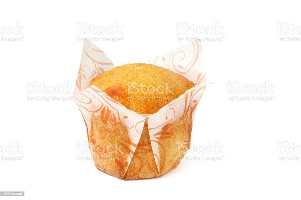cupcake on white background isolated stock photo