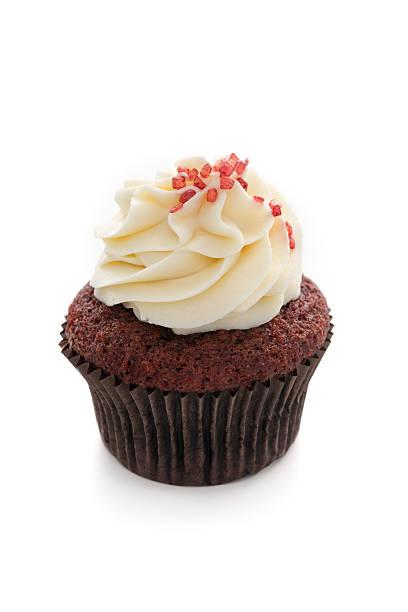 cupcake - vanille muffins stock-fotos und bilder