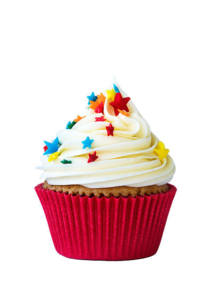 Cupcake Cupcake isolated on white cupcake stock pictures, royalty-free photos & images