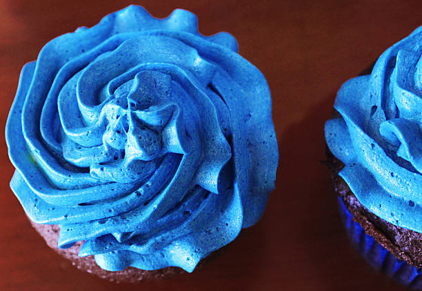 cupcake - marinekuchen stock-fotos und bilder