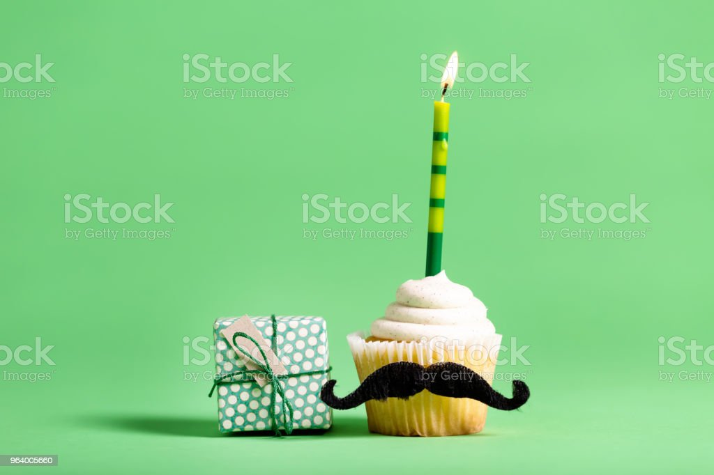 Cupcake with a moustache Father's Day theme - Royalty-free Anniversary Stock Photo