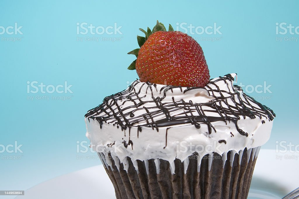 Cupcake with Strawberry royalty-free stock photo