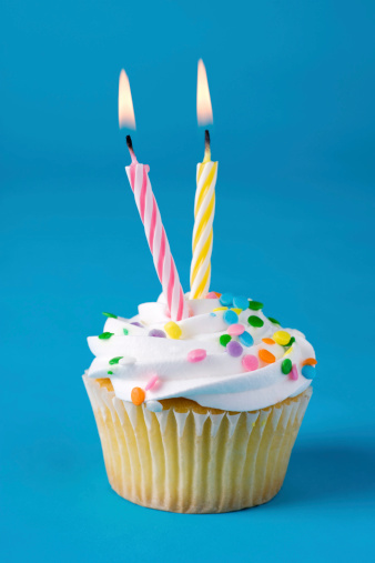 istock Cupcake with Two Candles 172278482