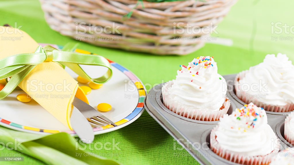 Cupcakes for dessert royalty-free stock photo