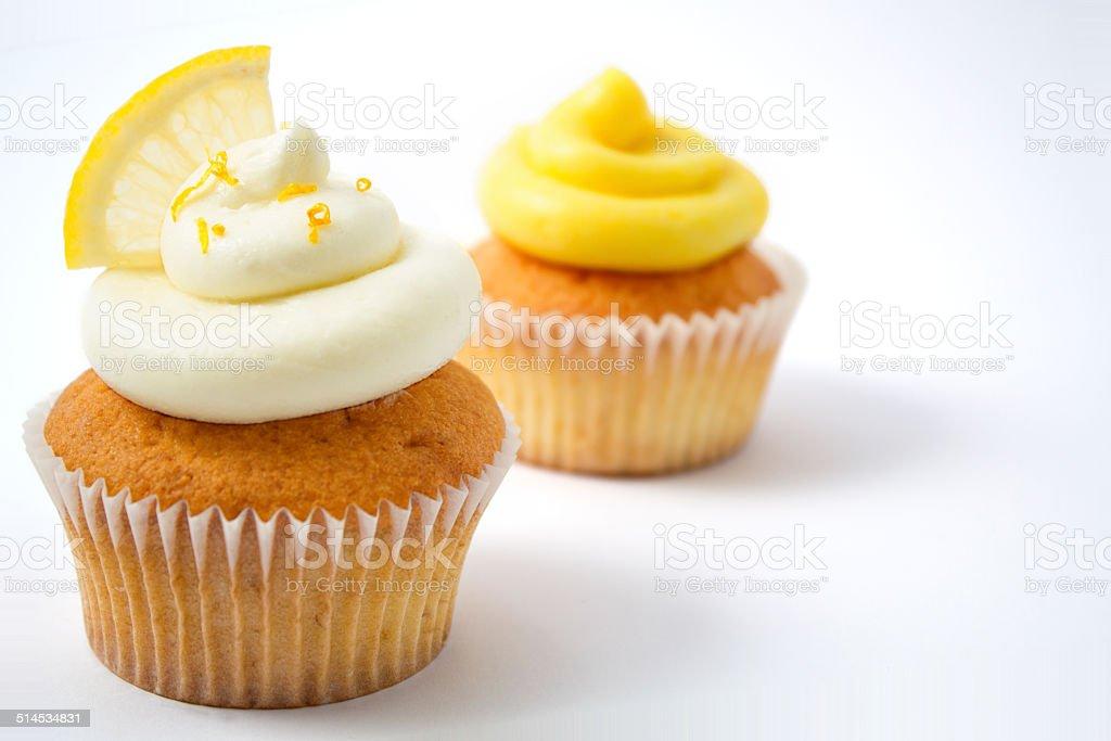 Cupcakes - Lemon and Mimosa stock photo