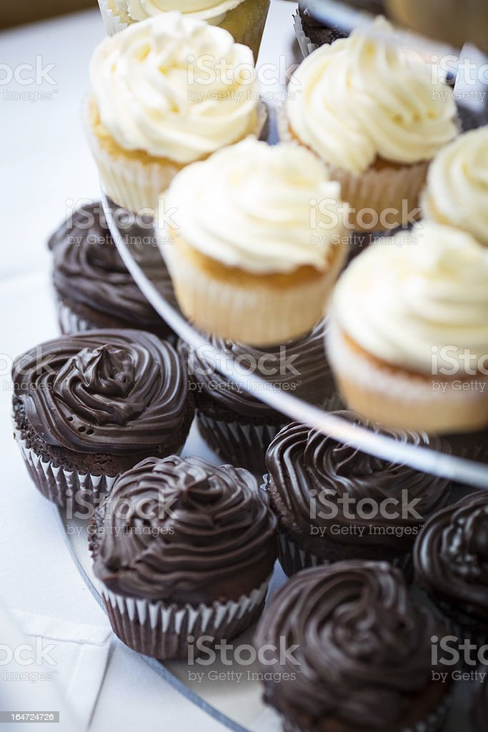 Cupcakes on a platter 3 royalty-free stock photo