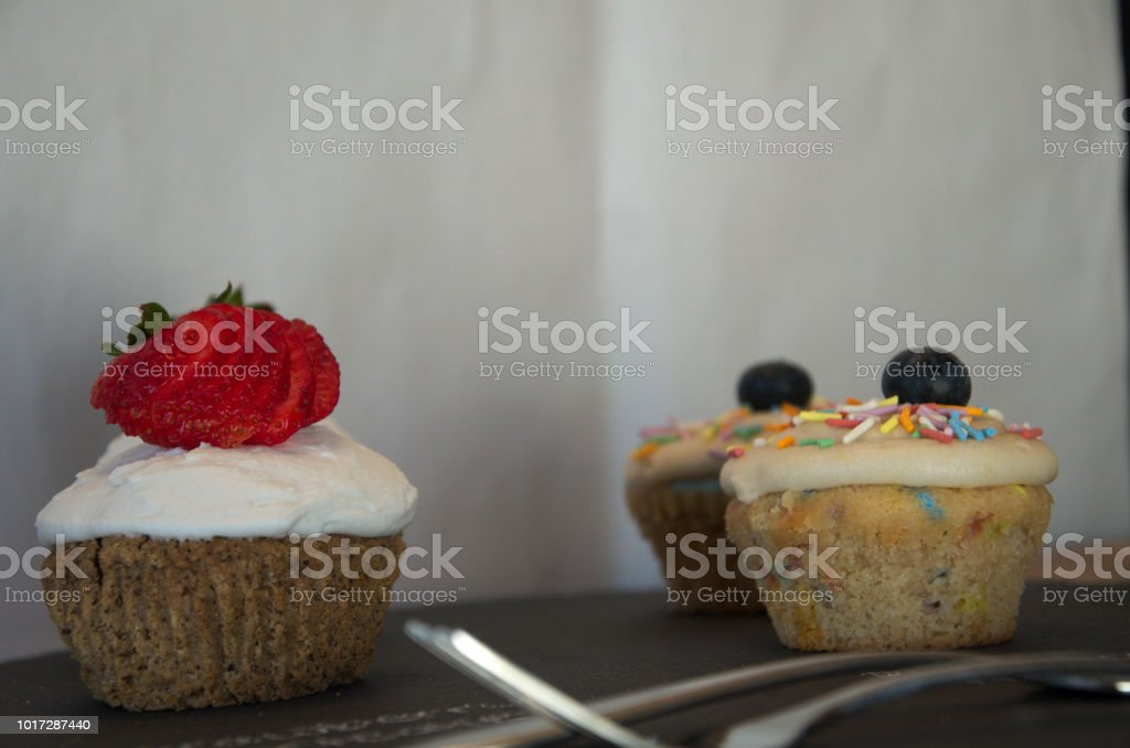 Cupcakes Ready For A Wedding Cake Taste Test Stock Photo Download Image Now Istock