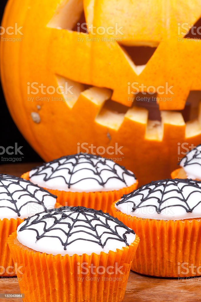 cup-cakes with web royalty-free stock photo