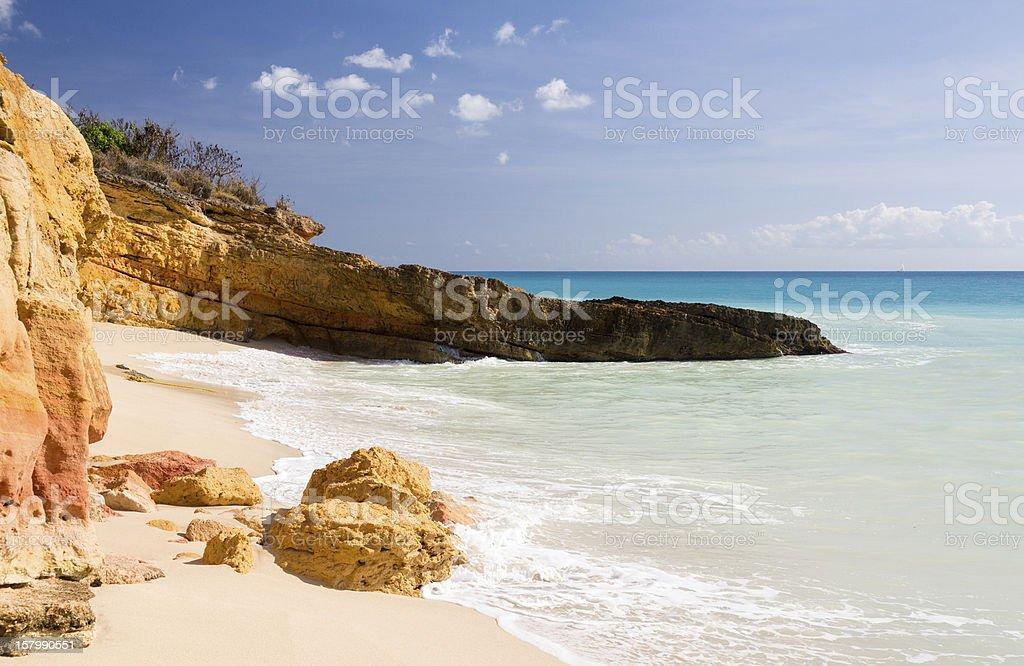 Cupecoy Beach Sint Maarten stock photo