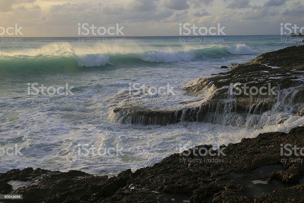 Cupecoy Beach Surf stock photo