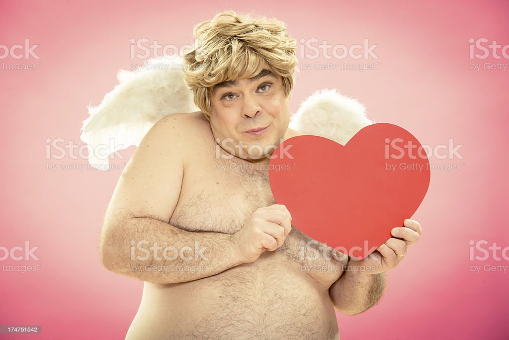 cupid gives you love in the valentine day royalty-free stock photo