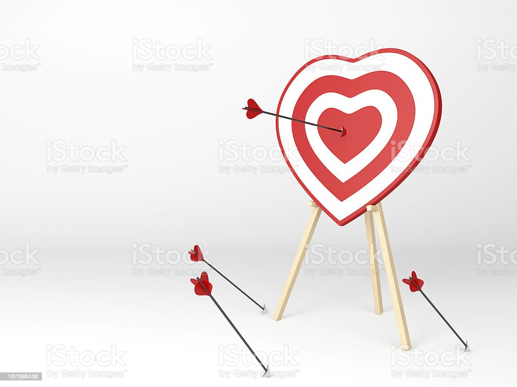 Cupid hit the target! stock photo