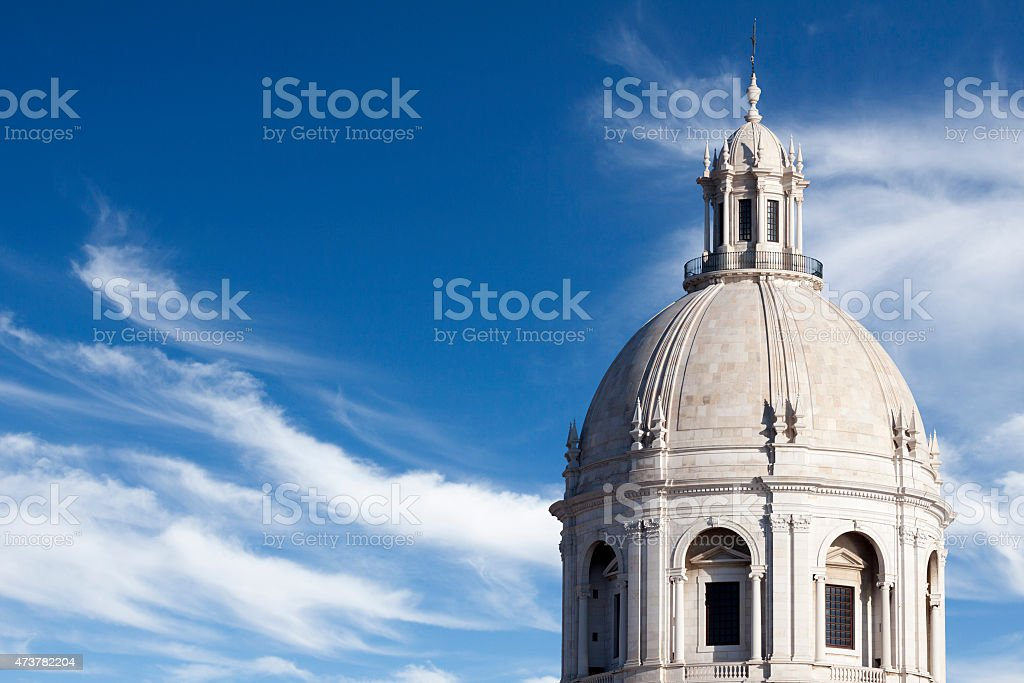 Cupola and dome of the National Pantheon in Lisbon stock photo