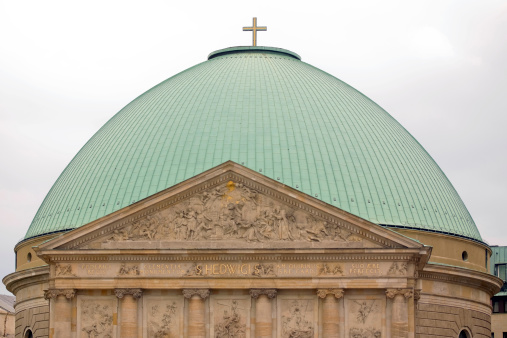 Cupola Of Cathedral St Hedwig In Berlin Stock Photo - Download Image Now