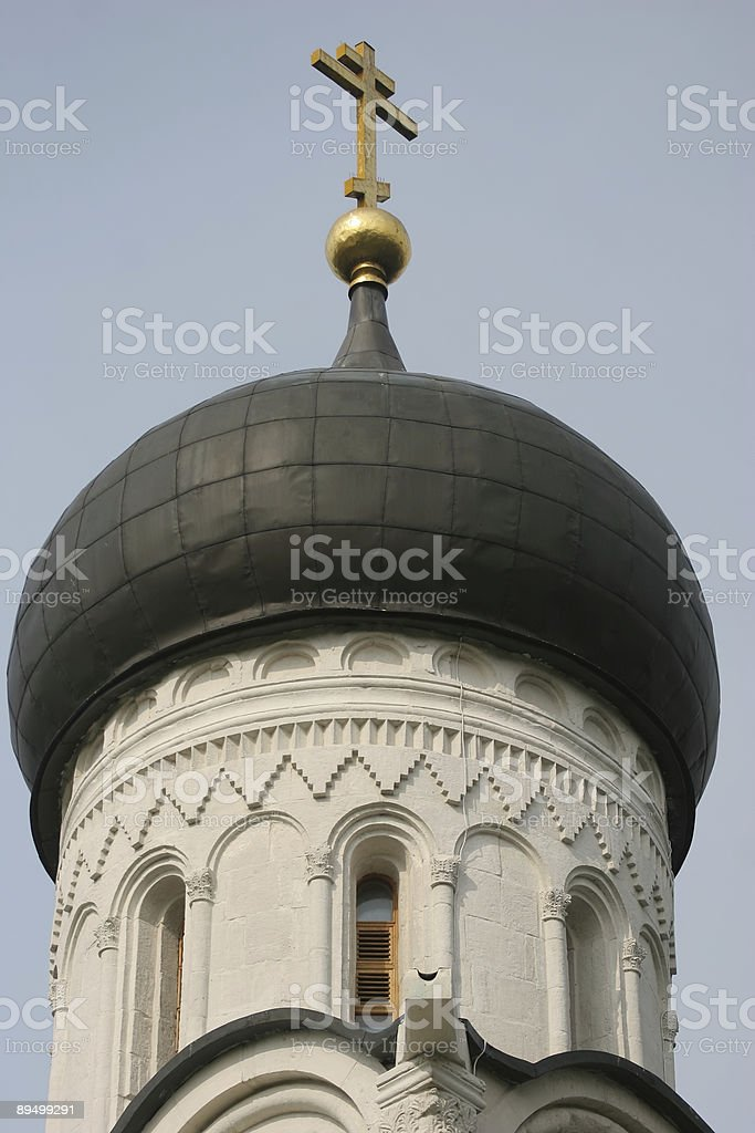 Cupola of Intercession Orthodox church on the river Nerl, Russia royalty-free stock photo