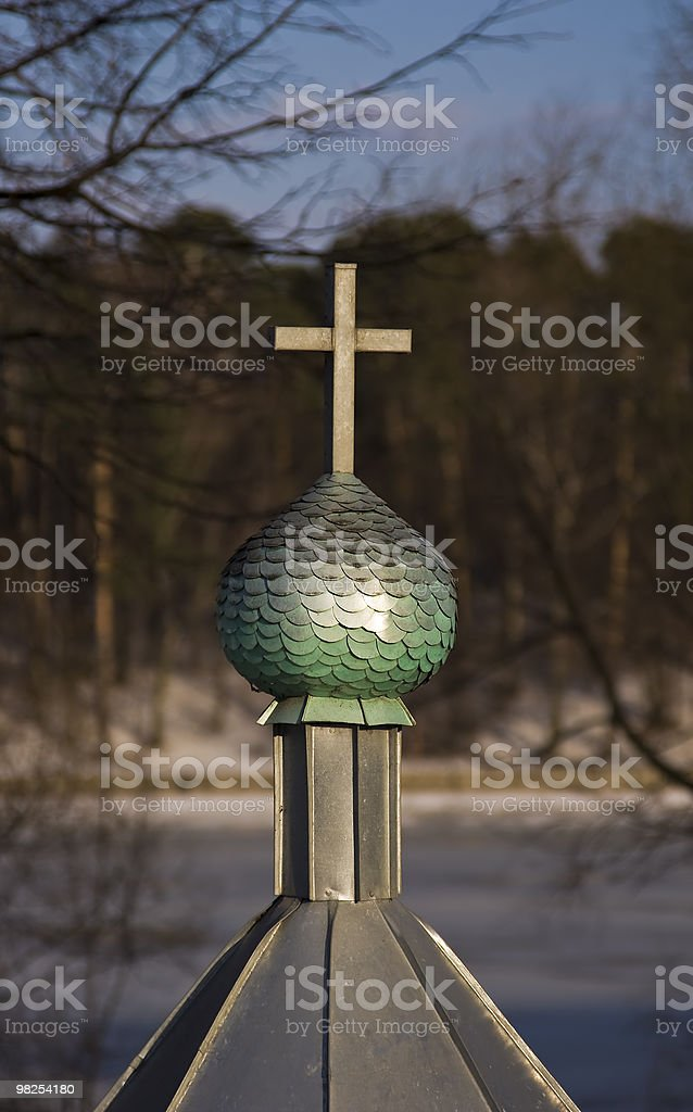 Cupola of small Orthodox chapel royalty-free stock photo