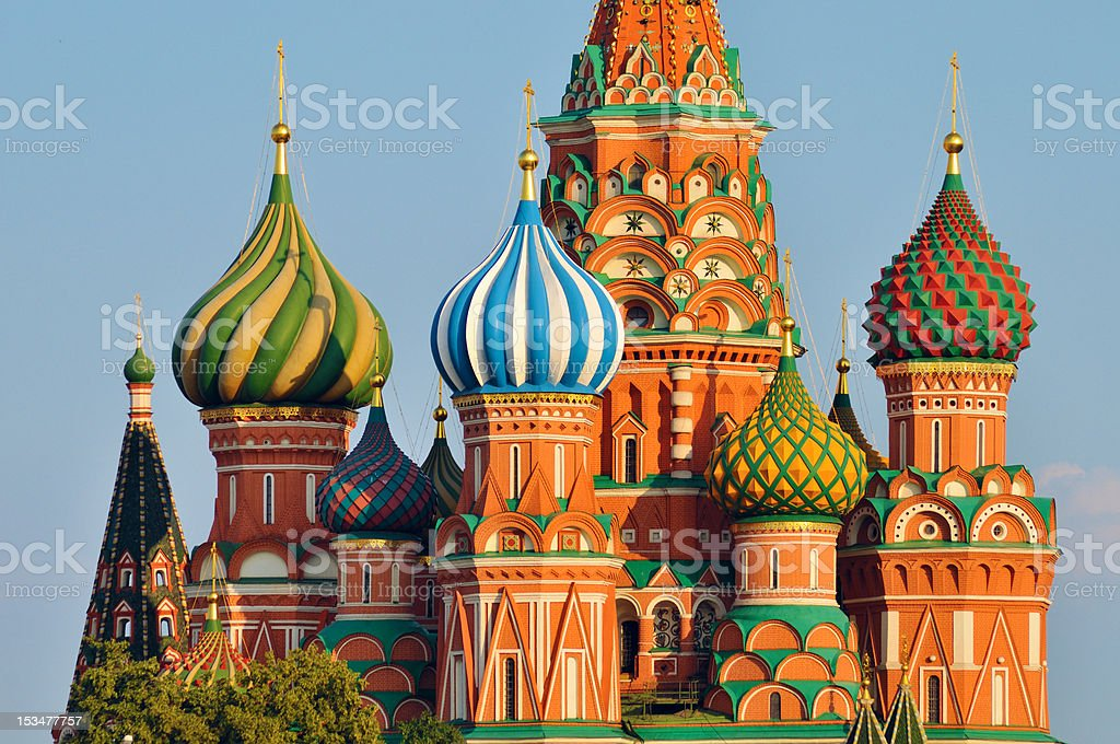 Cupola of St Basil's cathedral in Moscow - Royalty-free Architectural Dome Stock Photo