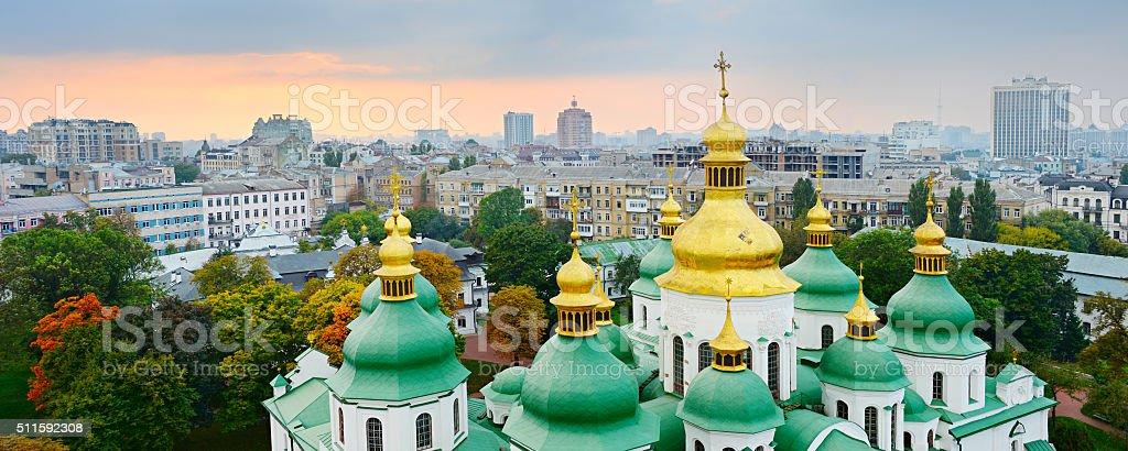 Cupola of St. Sophia Cathedral. Kiev stock photo