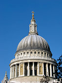 Cupola of St.Paul`s Cathedral in sunny day, London.