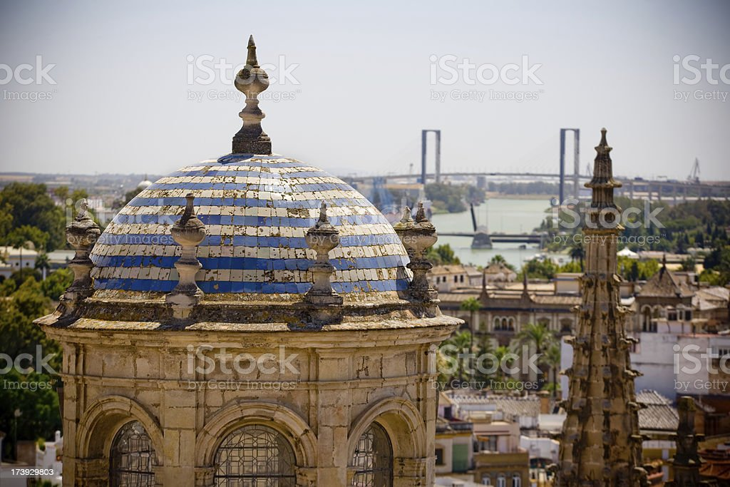 Cupola of the cathedral stock photo