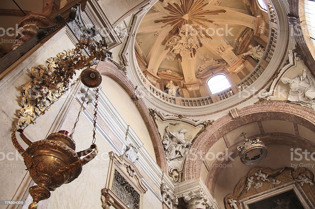 Cupola of the Cathedral Santa Maria Matricolare in Verona royalty-free stock photo