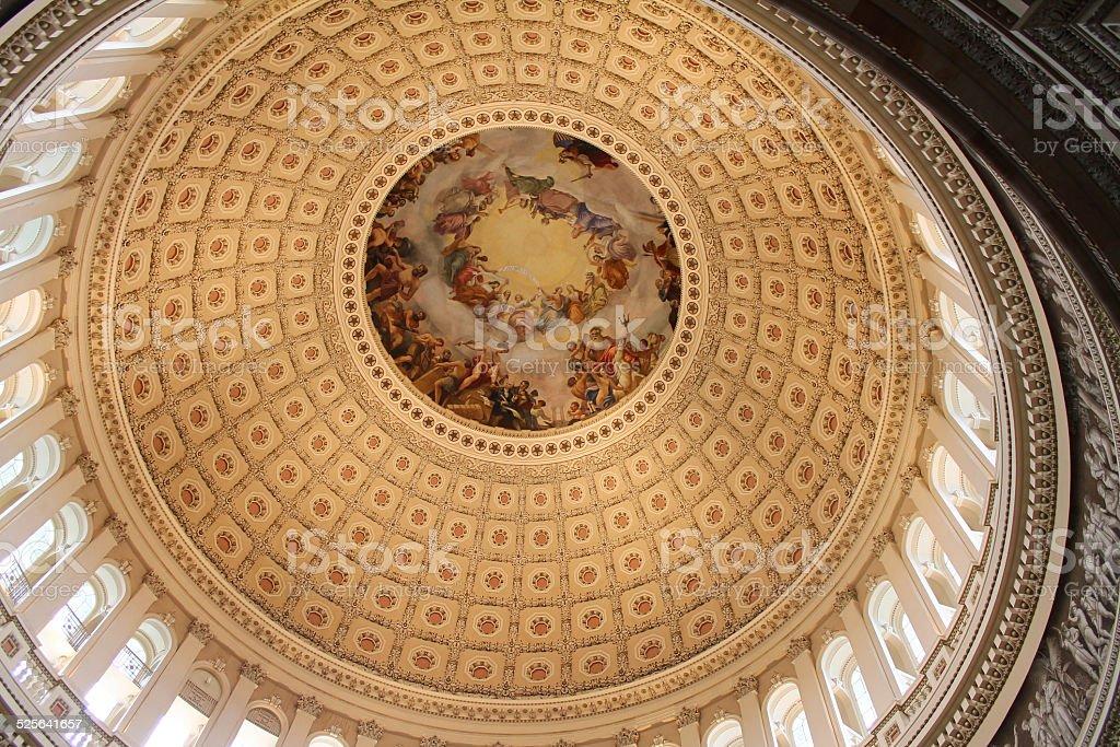 Cupola of United States Capitol Building, Washington, USA stock photo