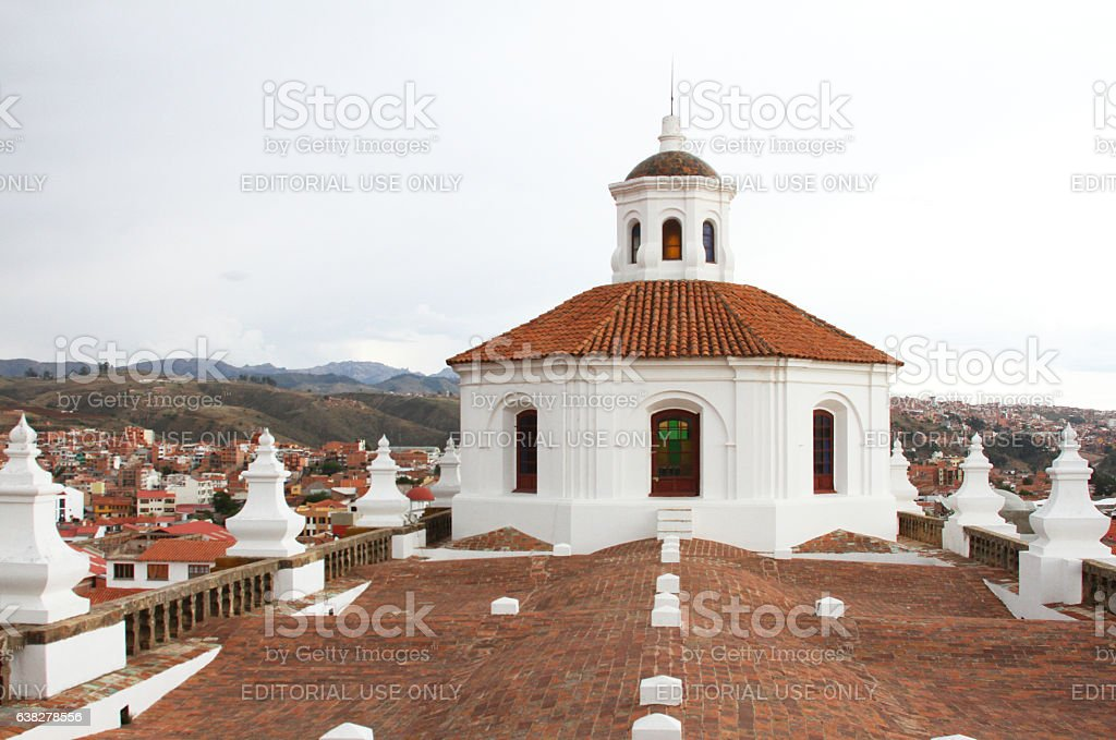 Cupola on San Felipe Neri Monastery, Sucre, Bolivia stock photo