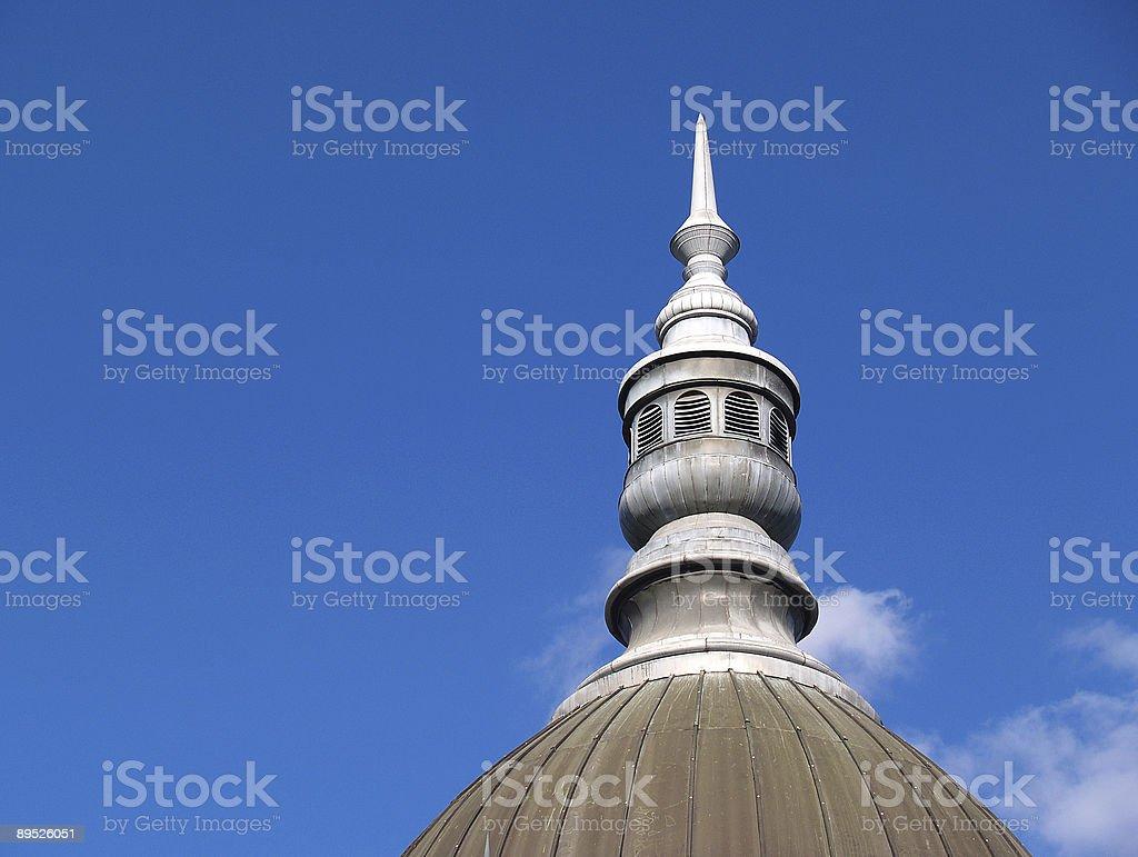 Cúpula sobre tejado foto de stock libre de derechos
